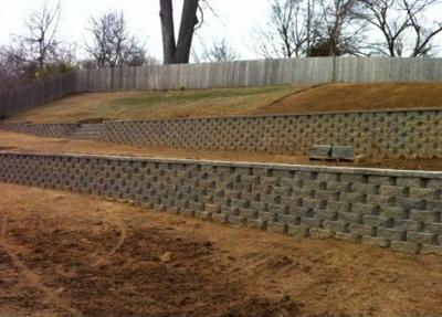 Retaining wall prevents erosion